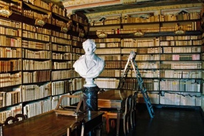 The library at Casa Leopardi, Recanati