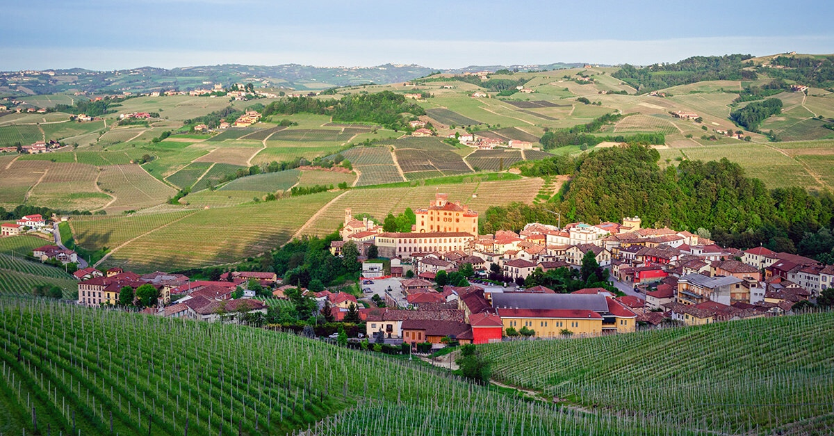 Barolo, in the heart of Italy's big red wine region