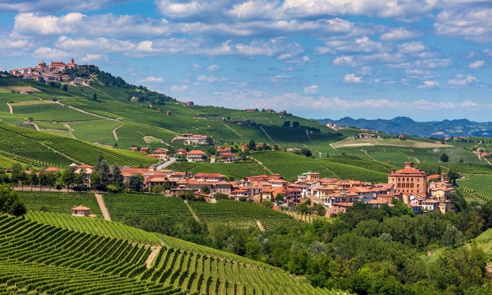 Barolo and its castle, Piedmonte, Italy
