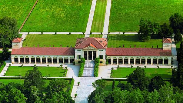 Villa Emo - aerial view, Fanzolo, Veneto, Italy