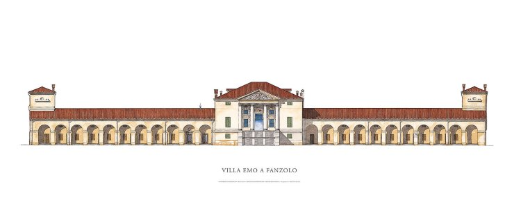 Villa Emo - water colour sketch