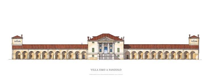 Villa Emo - water colour sketch