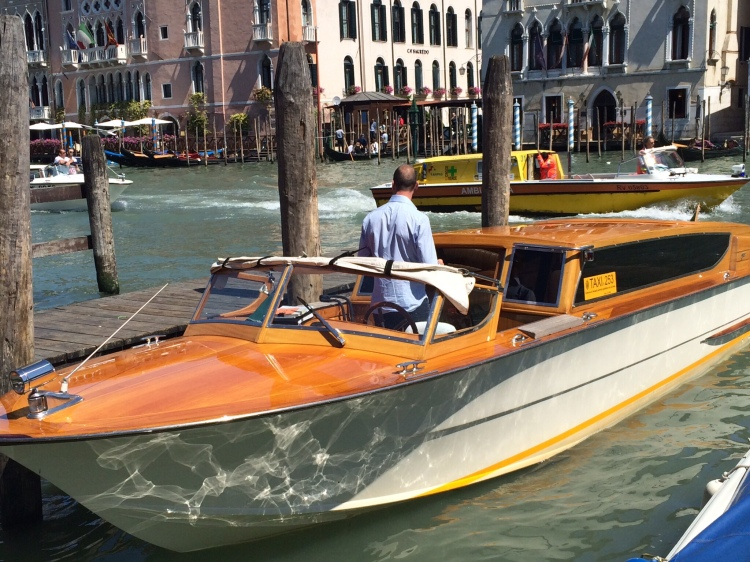 Travelling in Venice on your own private boat gives a glamorous feel to the whole experience www.educated-traveller.com