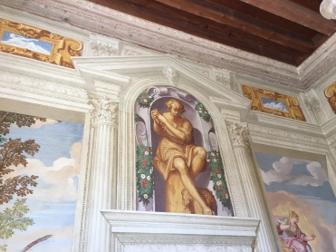Villa Emo - the use of gold gives a rich and warm appearance.