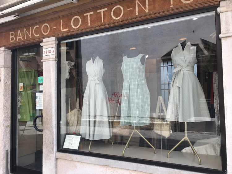 Bancolotto, 10 - Unique Clothing store in Venice. The clothese are made by the women prisoners in Venice's Female prison. This is a fantastic social enterprise. Support it on your next visit.