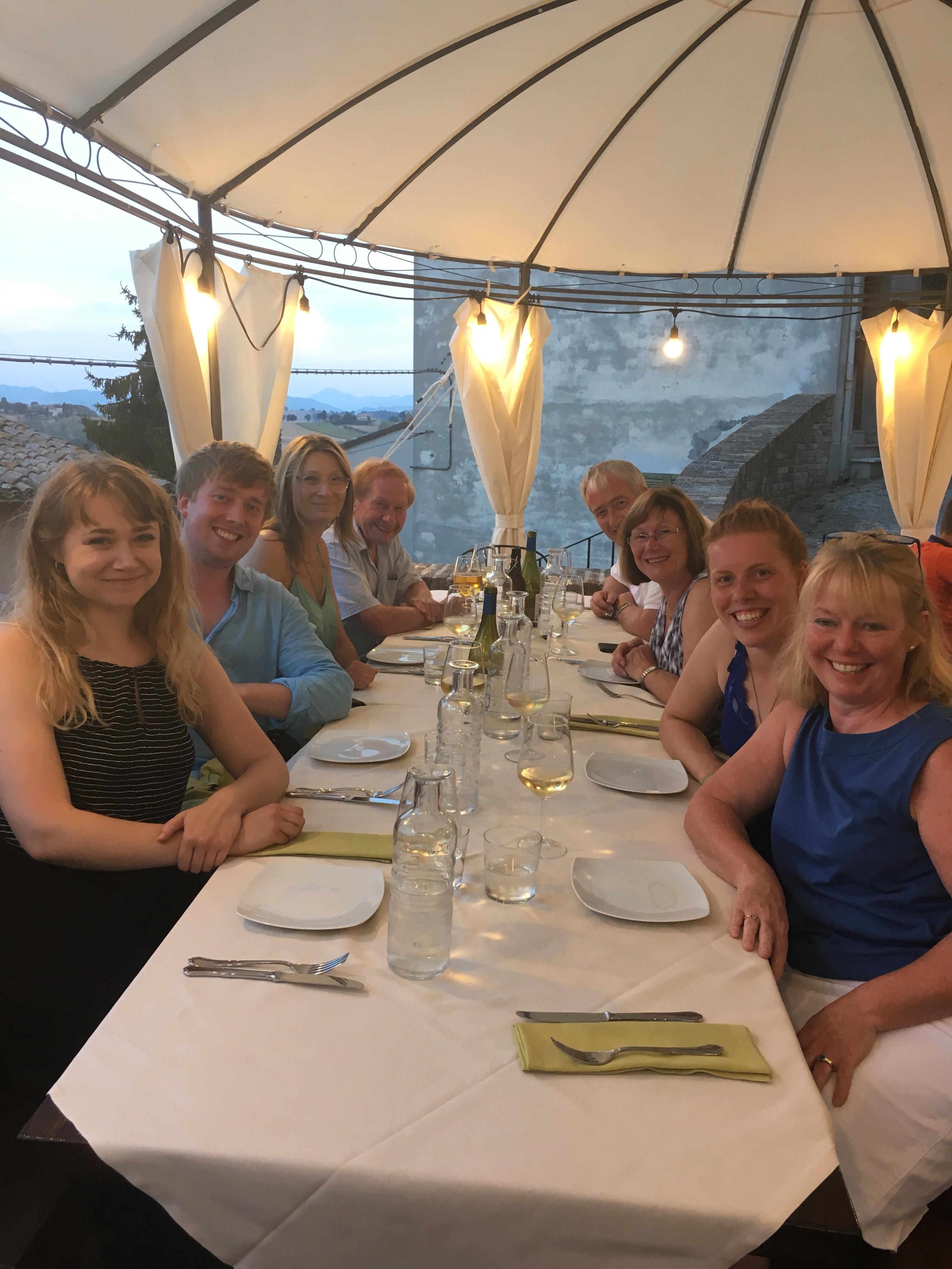 Corinaldo, Le Marche - dinner en famille