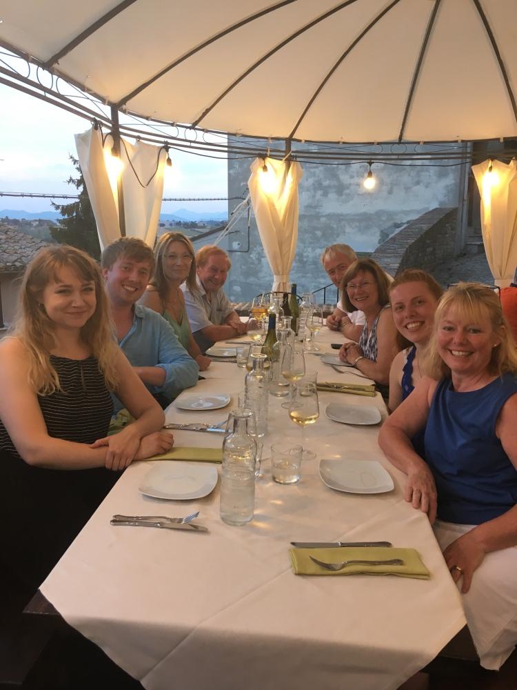 A night in Corinaldo, Simmonds, Panagakis & Howe Families