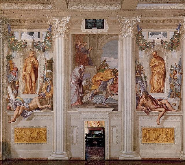Villa Emo - interior frescoes, demonstrate trompe l'oeil technique - 16th century