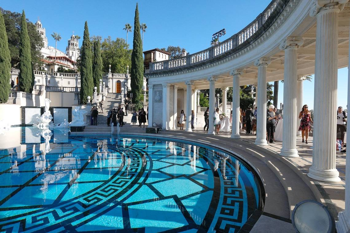 Hearst Castle - Neptune Pool - beautifully refurbished and completed in 2018