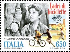The wonderful film 'Ladri di Biciclette' gave hope to a population struggling with poverty and lack of opportunity.