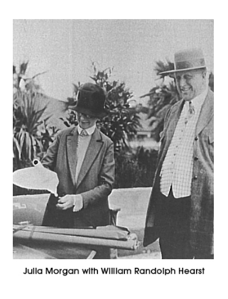 William Randolph Hearst with architect Julia Morgan with whom he collaborated for more than 30 years
