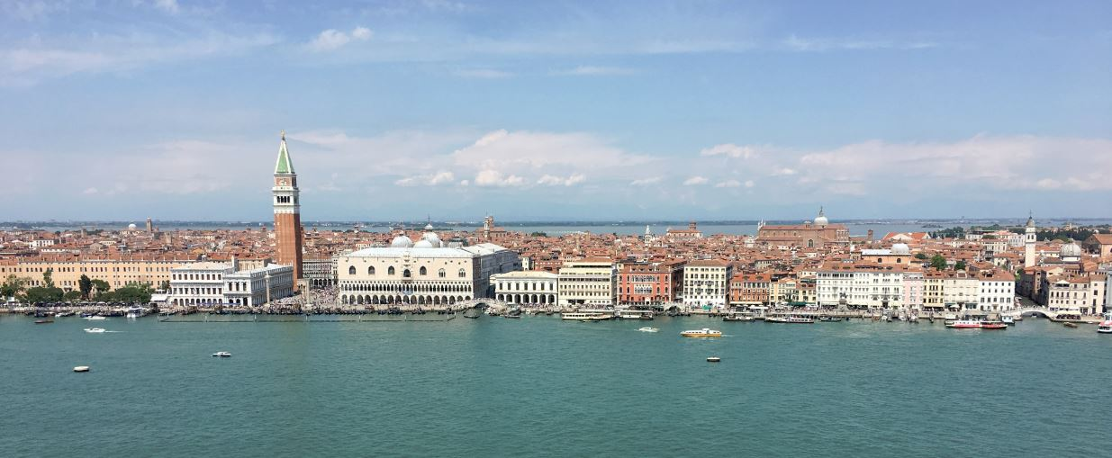 Venice - panorama - view from the bell tower of San Giorgio Maggiore www.educated-traveller.com