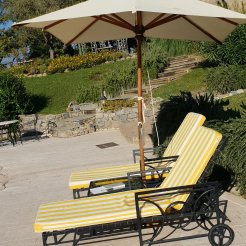 La Meridiana, Liguria - sun loungers by the pool