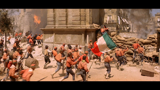 The Leopard 'Il Gattopardo' battle between Garibaldi's independence troops and troops supporting the old kingdoms