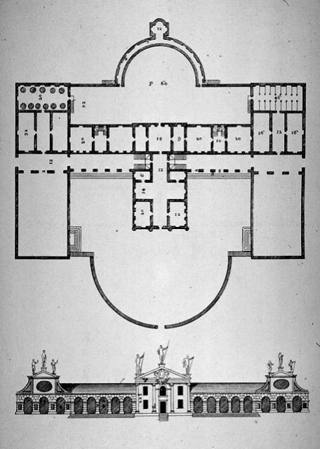 Villa Barbaro, Maser - facade plan