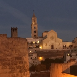 Matera - Duomo, with full moon