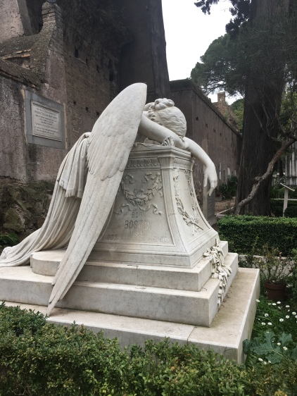The grieving angel, Protestant Cemetery - Rome www.educated-traveller.com