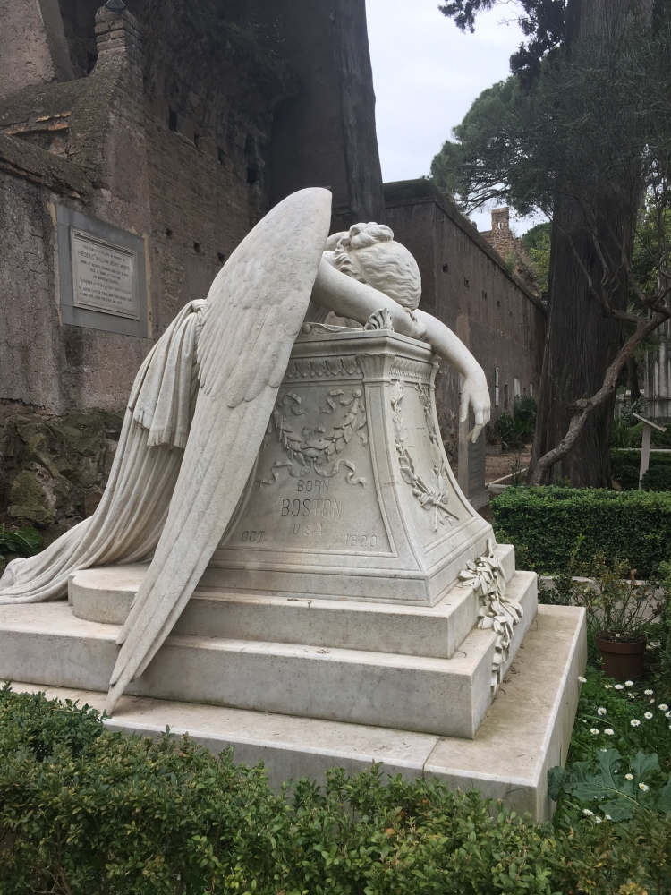 The Grieving Angel, Protestant Cemetery, Roma - March 2019