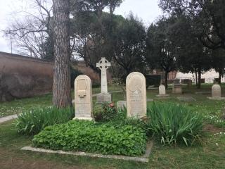 Keats Tomb stone, Protestant Cemetery, Rome