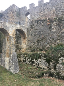 Neuchatel - castle walls date from 12th century.
