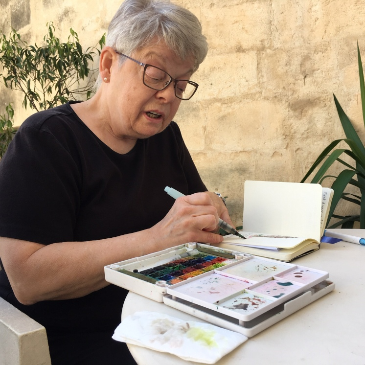 Matera, perfect for artists - here's Mary Lou Peters in action www.maryloupeters.com