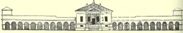 Villa Emo, Fanzolo, wood cut c.1570 - tinted
