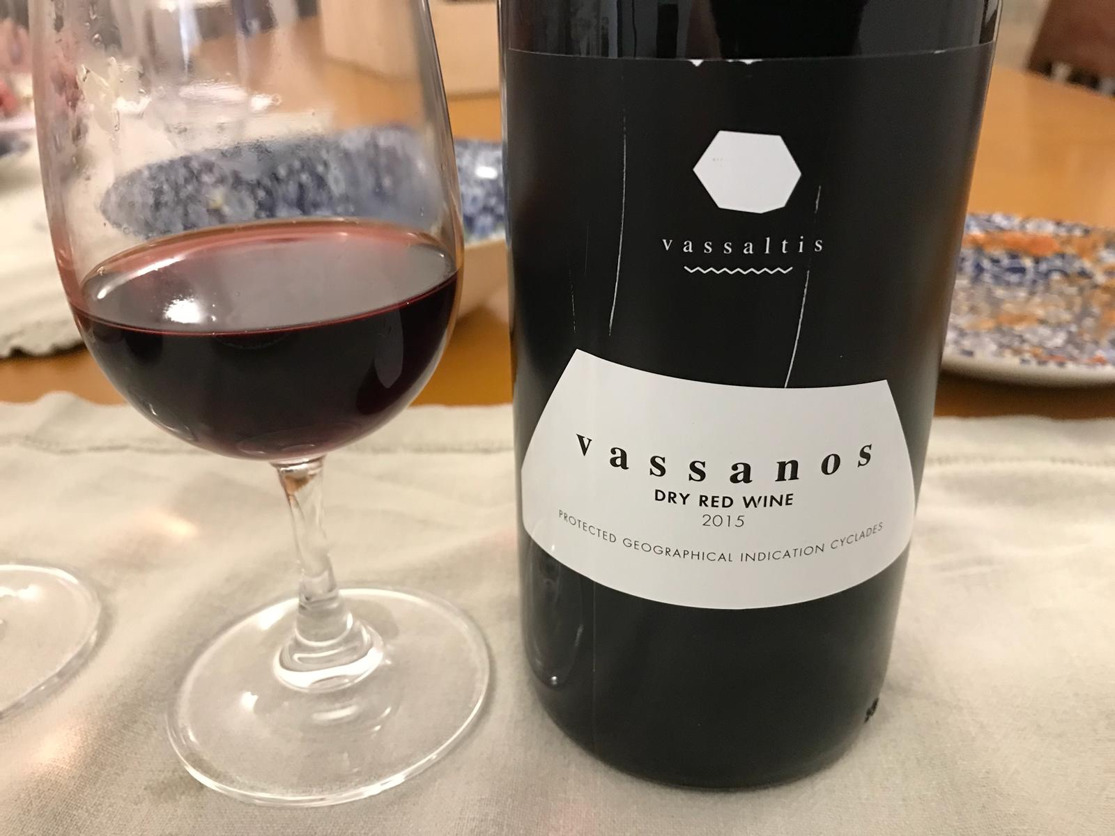 Vassaltis Winery - Vassanos Dry Red Wine, Santorini 2015