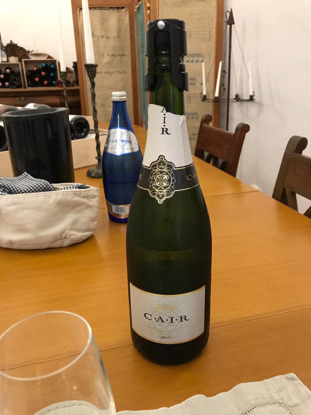 A sparkling wine from Rhodes - Cair, very drinkable