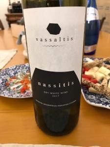 Vassaltis vineyard's Nassitis - dry, white wine (2017)