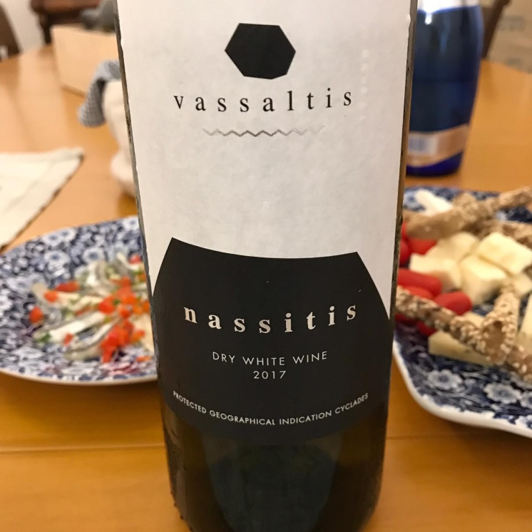 Vassaltis vineyard's Nassitis - dry, white wine (2017)