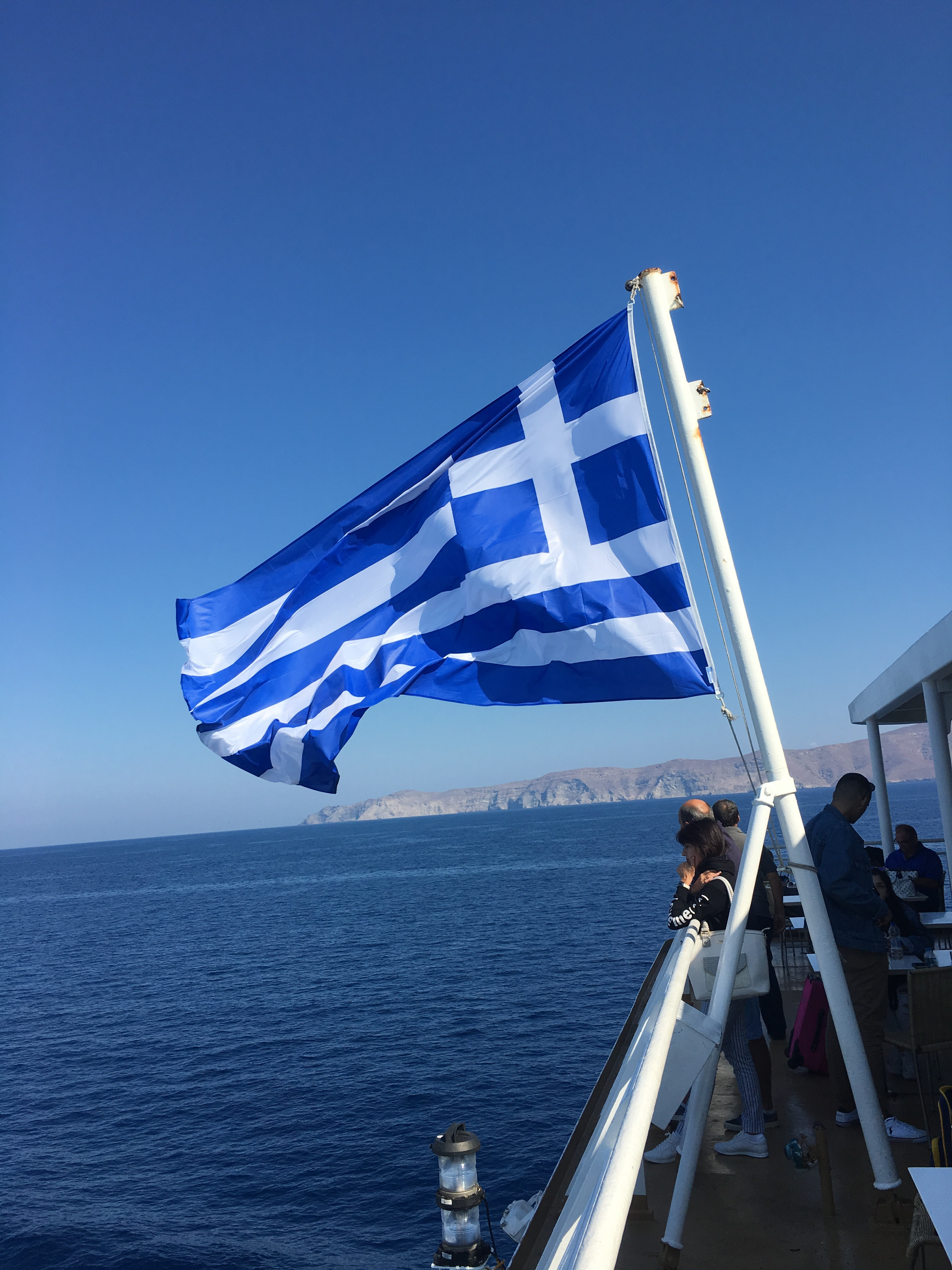 Greece - the blue sky, the blue and white flag...