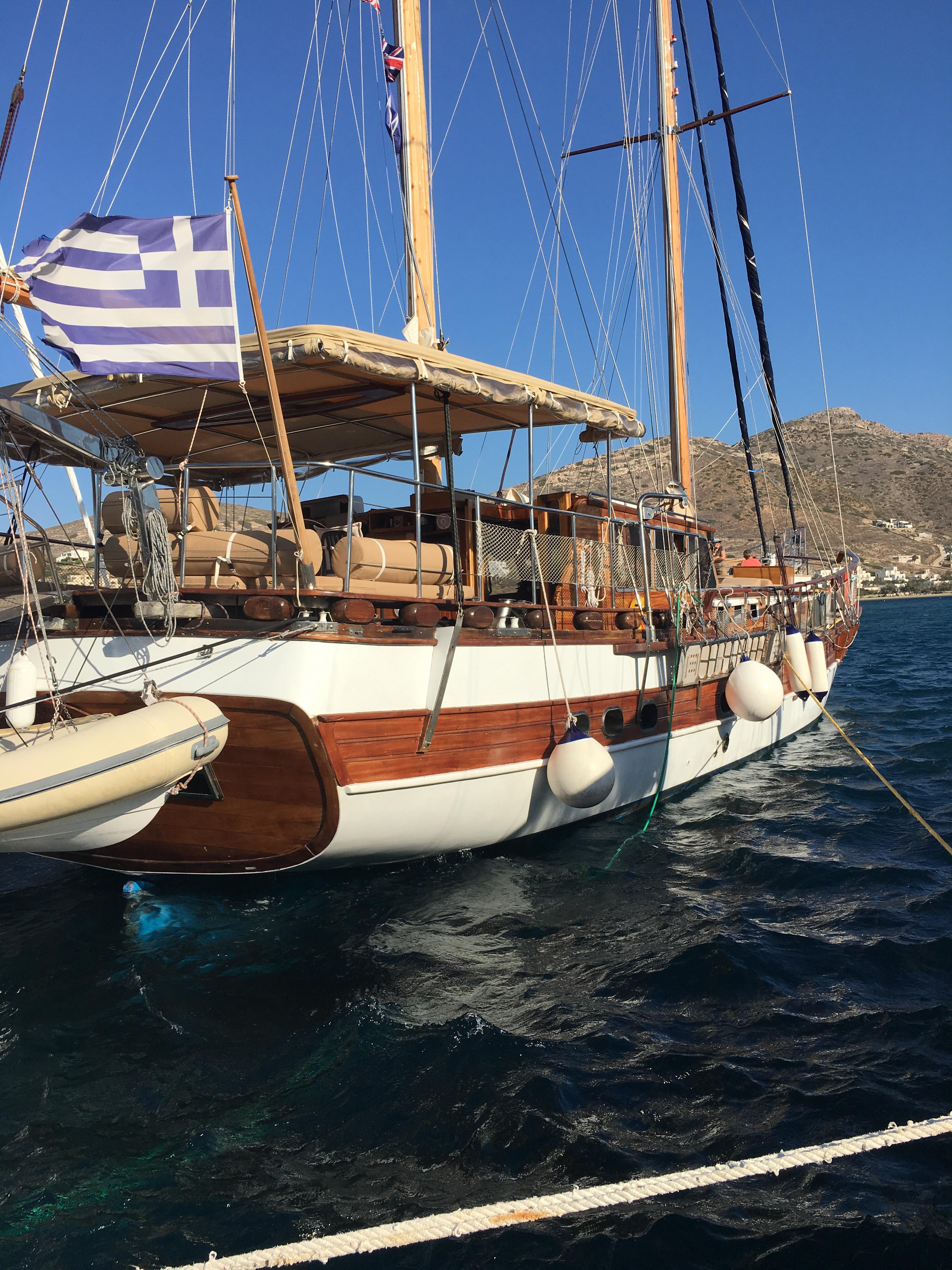 Greece by Sail - Kapitan Kosmos our traditional timber sailing boat