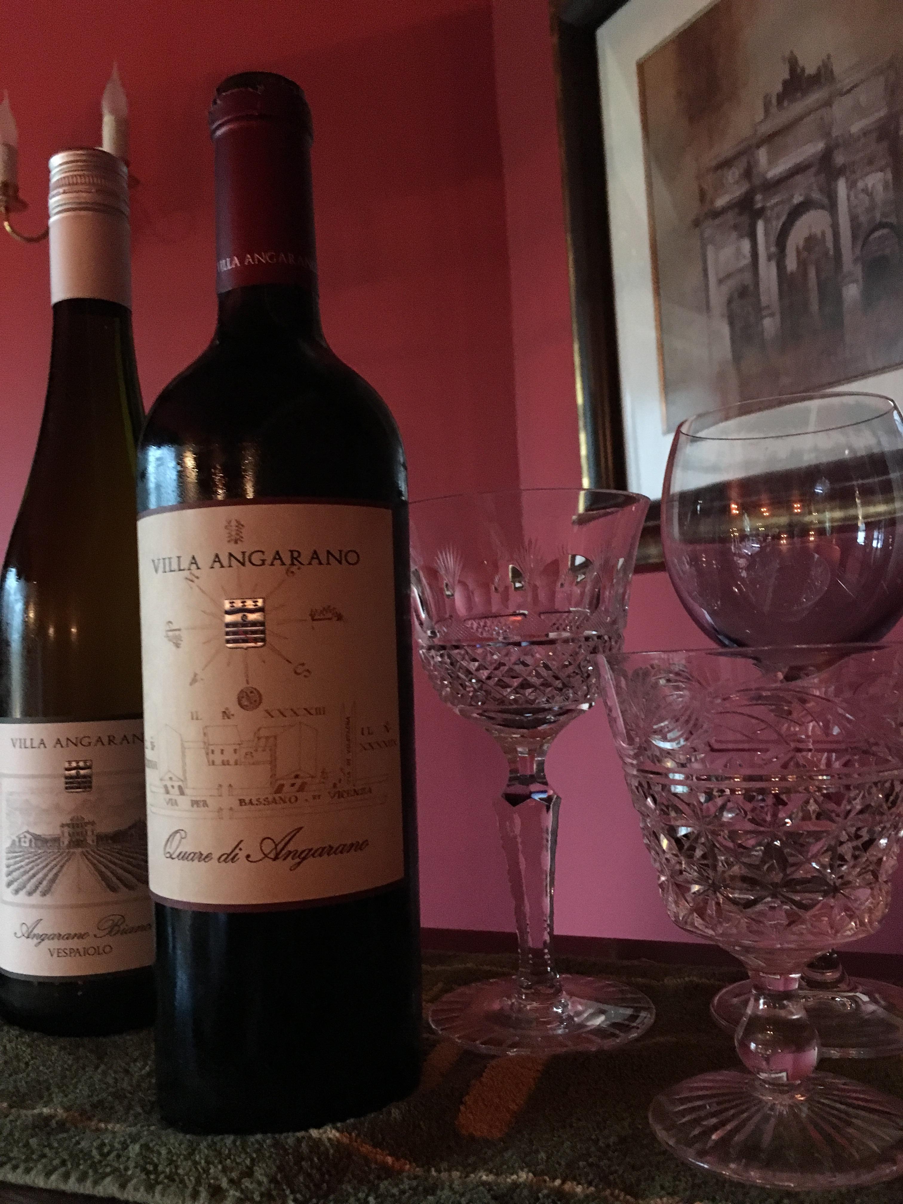 Villa Angarano - fine red wine, Christmas 2018, England