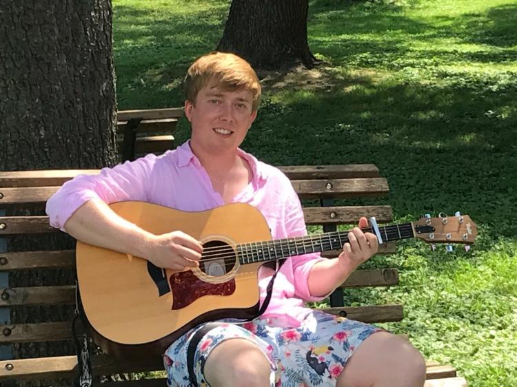 William serenaded us with his guitar, Villa Pedossa, Marche, Italy