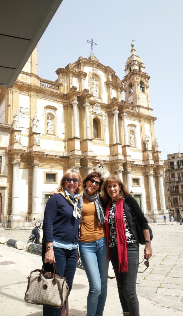 Ladies, ladies - Educated Traveller meets Trip Puzzle director Gabriella, who kindly arranged the street food tour in Palermo