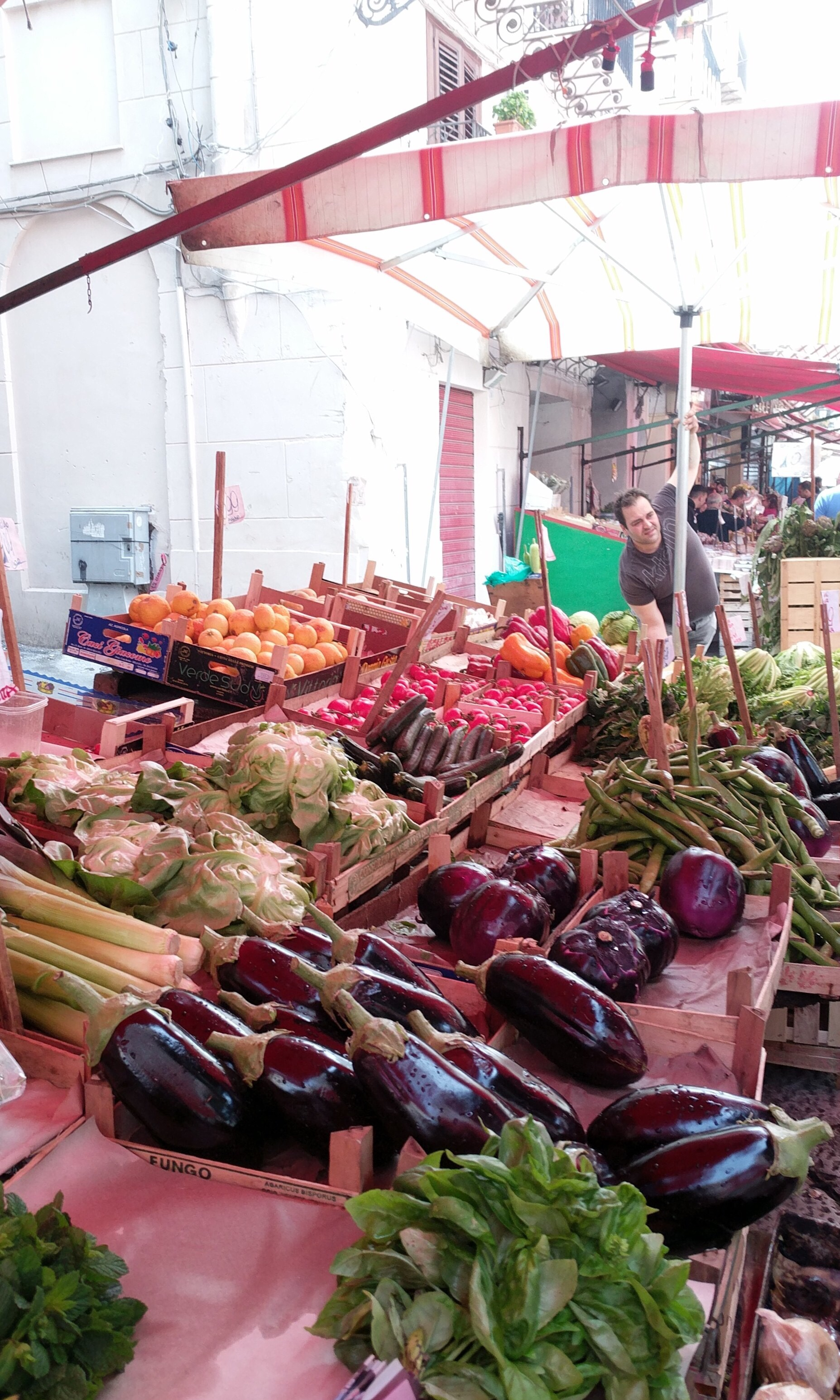Palermo street markets - vegetable selections