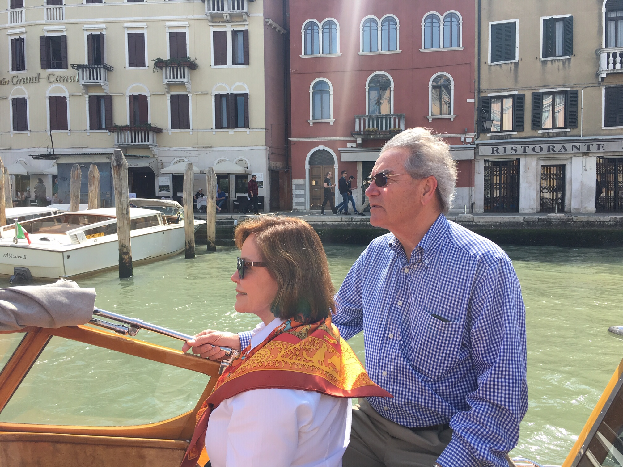 A perfect Grand Tourist moment for clients Trudy and Frank, Venezia, Italy