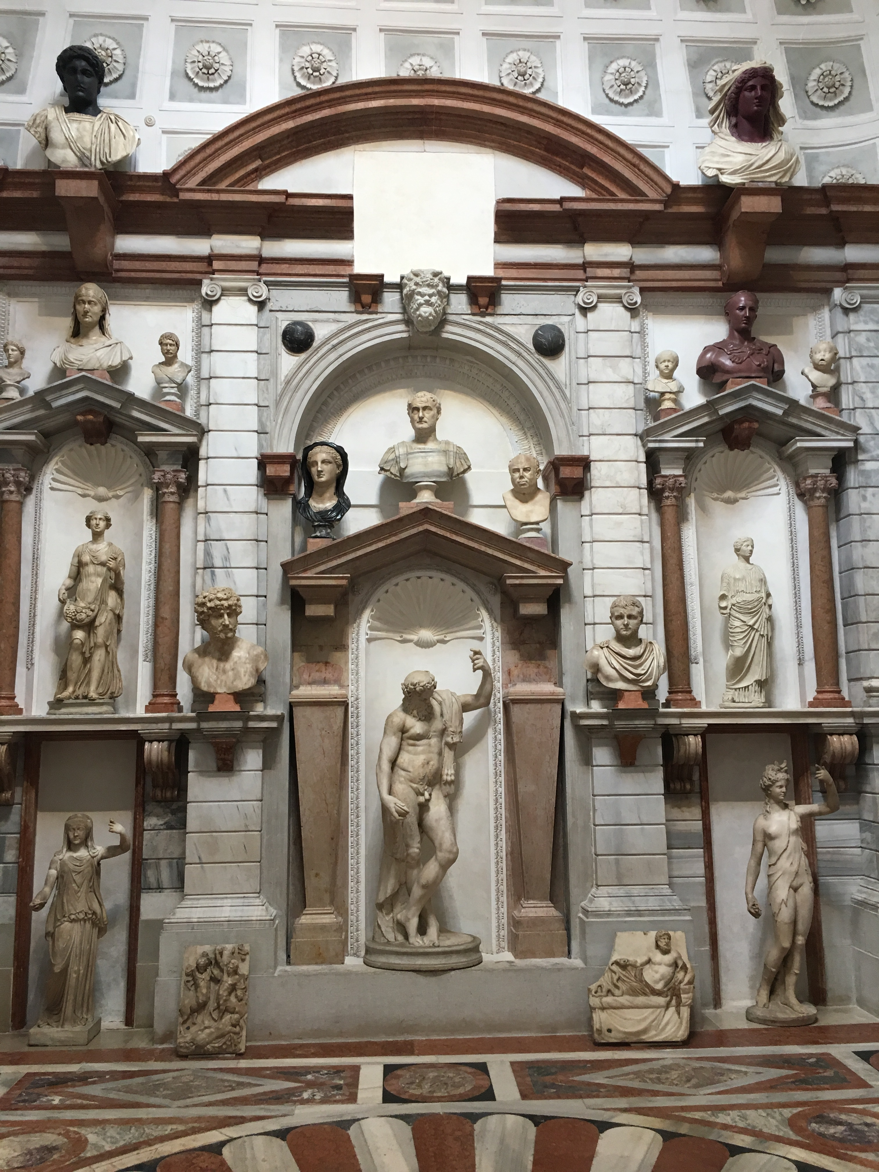 Palazzo Grimani - fabulous reconstruction of 1590s sculpture gallery, within the palace, in the original rotunda designed to display Giovanni Grimani's treasures.