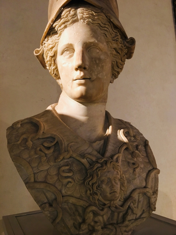 Magnificent sculpture of Athena, Greek God of War, adjacent to the Palazzo Grimani sculpture gallery - 1st century AD (almost certainly Roman)