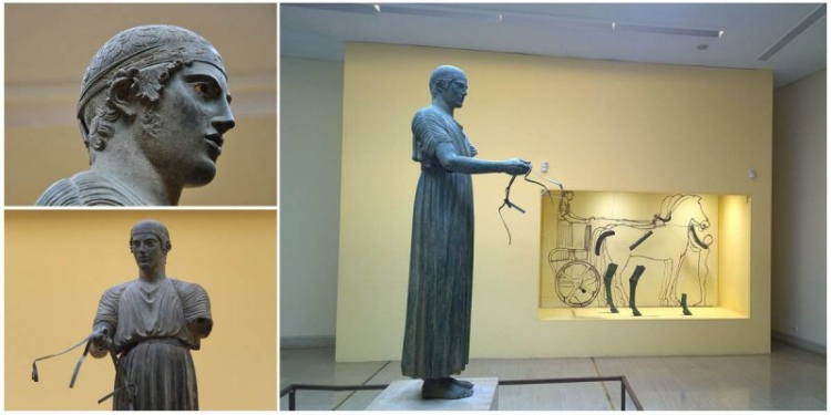 The Charioteer of Delphi c. 475 BCE, Deplhi Museum, Greece