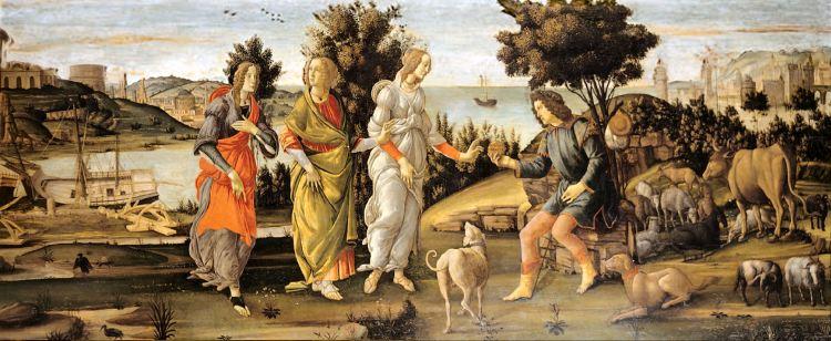 Sandro Botticelli - Il Giudizio di Paride, Palazzo Cini, Venezia
