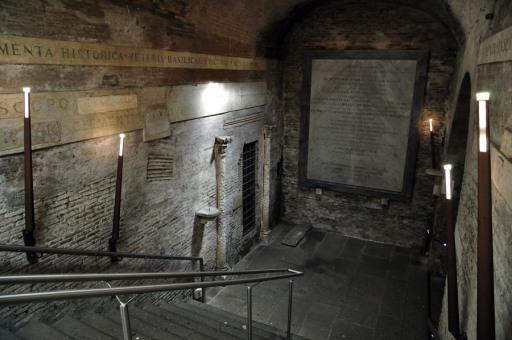 Rome, Basilica of San Clemente - descending into the IV century church