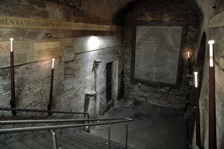 Rome, Basilica of San Clemente - descending into the IV century church