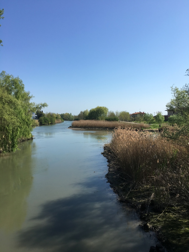 Caposile - where the rivers Sile and Piave meet - just moments from the Venetian lagoon