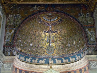 San Clemente - mosaics in 12th century apse, Rome