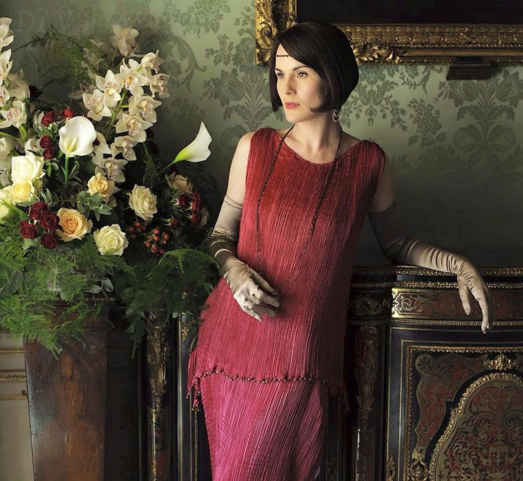 Lady Mary in Downton Abbey, has worn the 'Delphos' gown on several occasions.