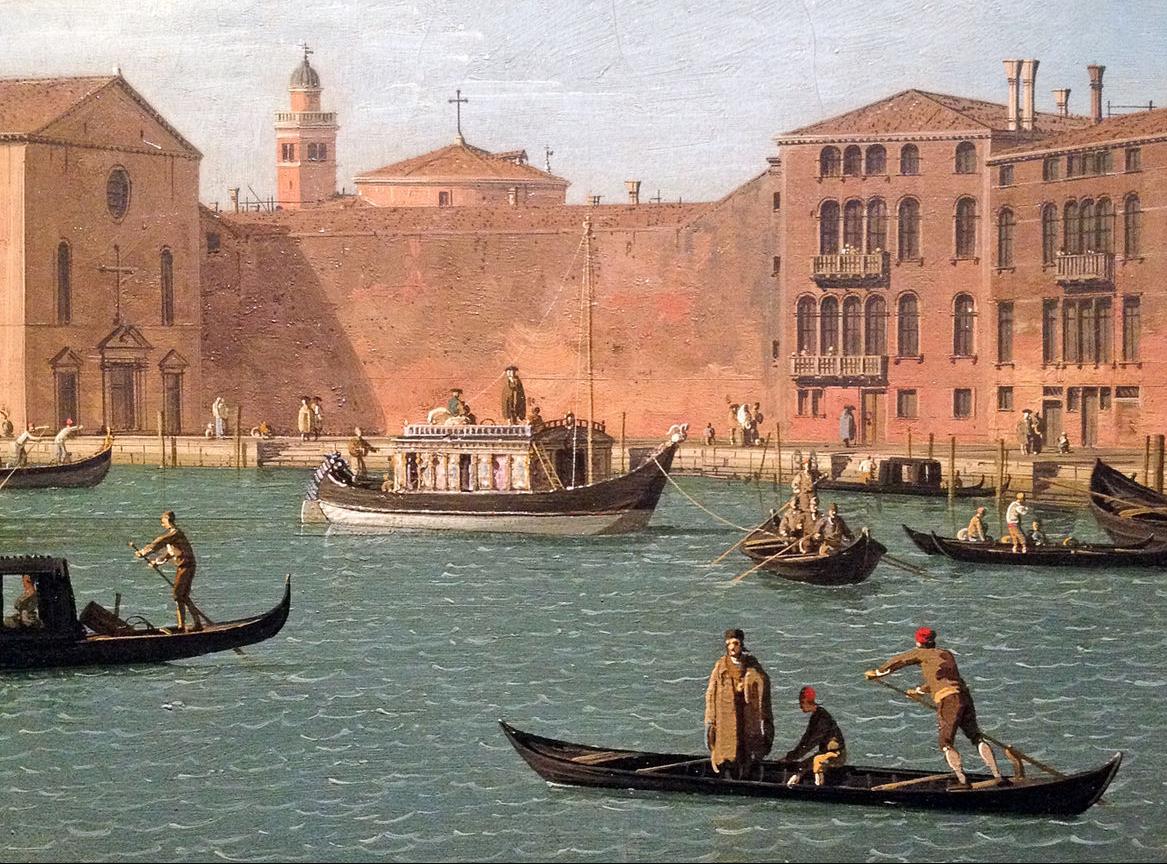 Le Burchiello a Venise - 1730s - Canaletto