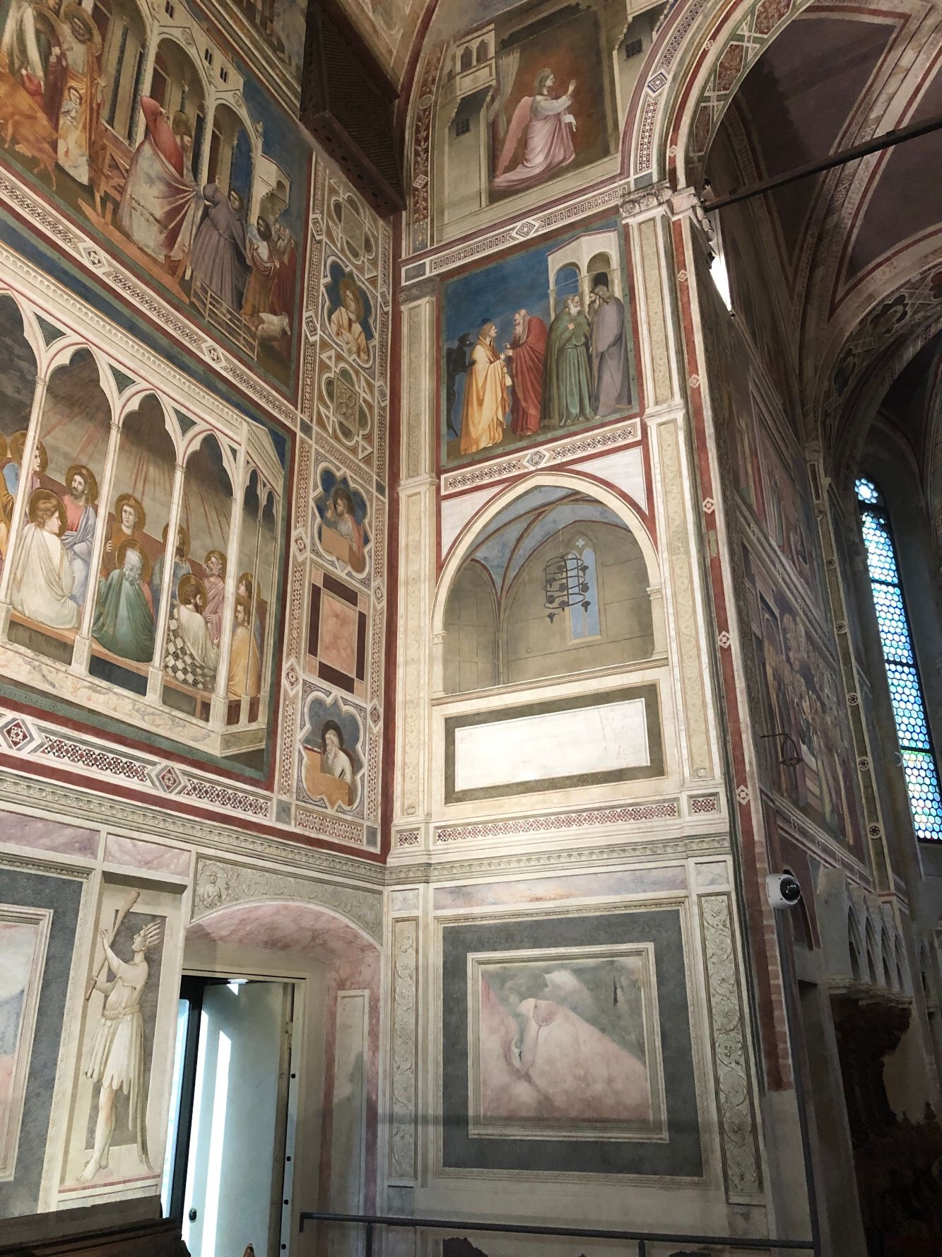 Scrovegni Chapel - interior, is lavishly decorated with fresco cycles by Giotto, 1303-1305