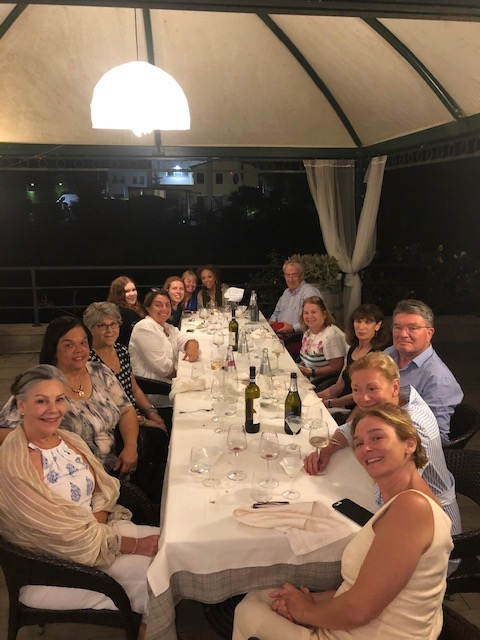 Writer's Retreat - dinner Osteria Caronte, September 2019