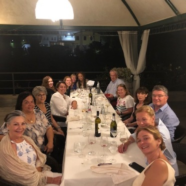 Writer's Retreat - dinner Osteria Caronte, September 2019